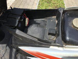 2017 RUSI VENUS SC 125cc 荷物スペース